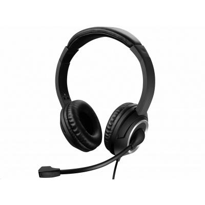 Sandberg náhlavní souprava Chat s mikrofonem, USB, stereo, černá