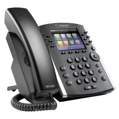 Polycom IP telefon VVX 401, 12 linkový, 2x 10/100, HD Voice, PoE, bez napájecího zdroje