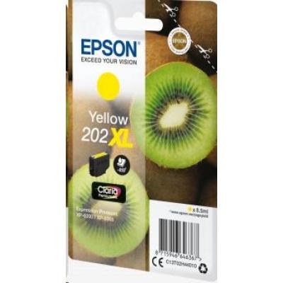 "EPSON ink bar Singlepack ""Kiwi"" Yellow 202XL Claria Premium Ink 8,5 ml"