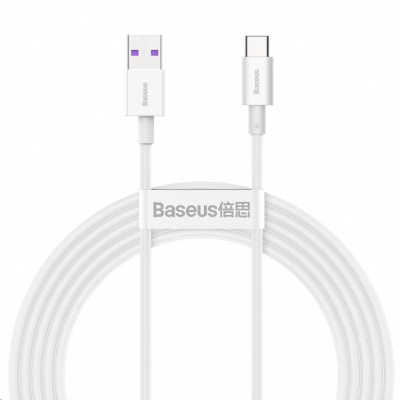 Baseus Superior Series rychlonabíjecí kabel USB/Type-C 66W 2m bílá