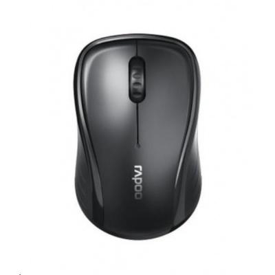 RAPOO myš M280 Silent Multi-Mode Mouse, Black