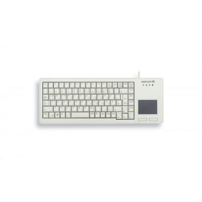CHERRY klávesnice G84-5500, touchpad, ultralehká, USB, EU, šedá