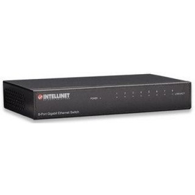 Intellinet 8-Port Gigabit Ethernet Switch, kovový