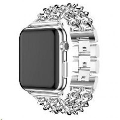 eses kovový řetízkový řemínek 38/40mm stříbrný pro Apple Watch