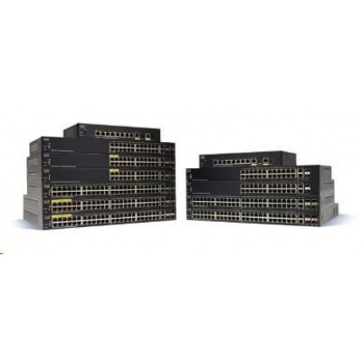 Cisco switch SF350-24MP, 24x10/100, 2xSFP, 2xGbE SFP/RJ-45, PoE