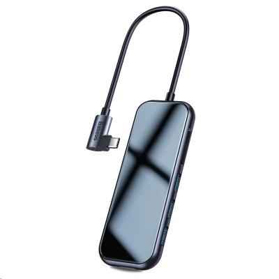 Baseus multifunkční HUB USB-C (3* USB 3.0, 4KHDMI, SD, TF čtečka, USB-C PD), šedá
