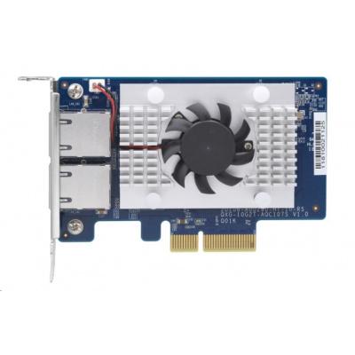 QNAP QXG-10G2T-107 Síťová rozšiřující karta pětirychlostní sítě 10 GbE, dvouportová 10GBASE-T
