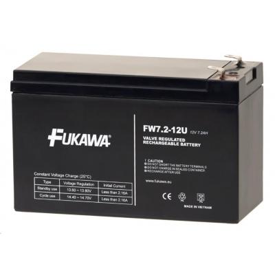 Baterie - FUKAWA FW 7,2-12 F2U (12V/7,2 Ah - Faston 250), konektor - 6.3mm, životnost 5let