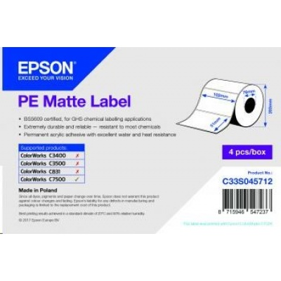 Epson label roll, synthetic, 102x51mm