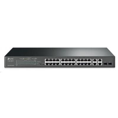 TP-Link T1500-28PCT(TL-SL2428P) [Smart Switch PoE+ s 24 porty 10/100 Mbit/s a 4 gigabitovými porty]