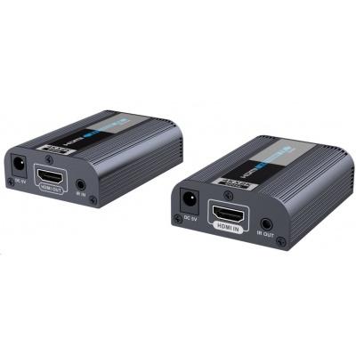 PREMIUMCORD HDMI 2.0 extender 4Kx2K@60Hz na 60m přes jeden kabel Cat6/6a/7