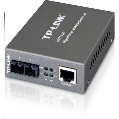 TP-Link MC210CS [Gigabitový média konvertor sítě Etherne, pro SM vlákna, 1310nm, konektor SC s broušením UPC, do 15km]