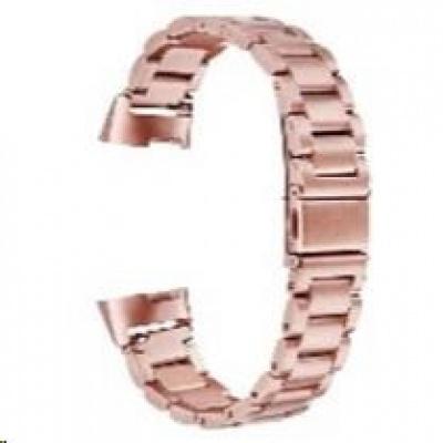 eses kovový řemínek růžový pro Fitbit Charge 3