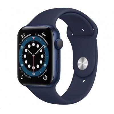 APPLE Watch Series 6 GPS, 40mm Blue hliníkové pouzdro + nám. modrý sport řemínek
