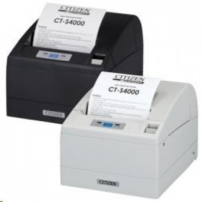 Citizen CT-S4000/L, USB, RS-232, 8 dots/mm (203 dpi), cutter, white