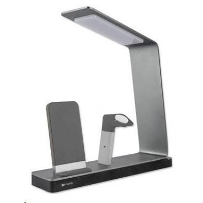 4smarts bezdrátová nabíjecí stanice s LED lampou LoomiDock  pro produkty Apple