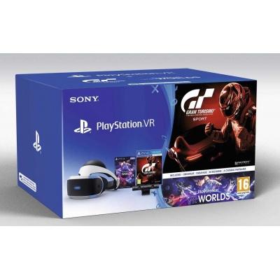SONY PS4 VR headset + Kamera + VR WORLDS (PSN voucher) + Gran Turismo