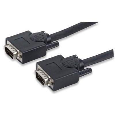 MANHATTAN Kabel SVGA HD15 Male / HD15 Male, 3 m, Black
