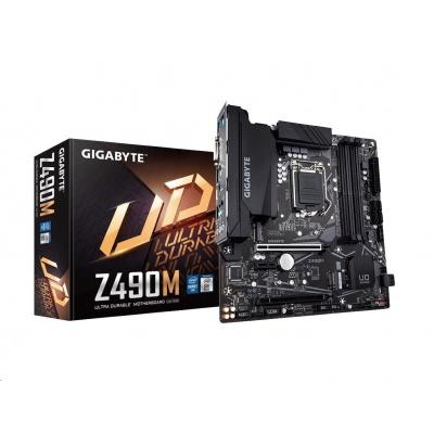 GIGABYTE MB Sc LGA1200 Z490M, Intel  Z490, 4xDDR4, VGA, mATX