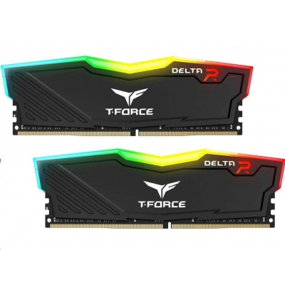 DIMM DDR4 16GB 2666MHz, CL15, (KIT 2x8GB), T-FORCE DELTA RGB (Black)