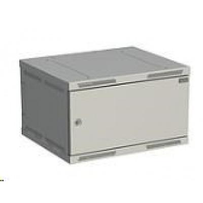 Solarix rozvaděč nástěnný SENSA 6U 500mm, dveře plech, RAL 7035 SENSA-6U-65-21-G