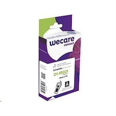 WECARE ARMOR páska pro DYMO S0720610, bílá/černá, 12mm x 7m