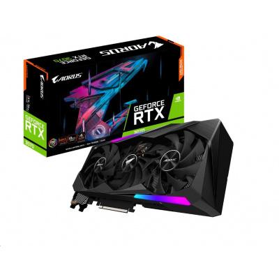 GIGABYTE VGA NVIDIA GeForce RTX 3070 AORUS MASTER 8G, RTX 3070, 8GB GDDR6, 3xHDMI, 3xDP