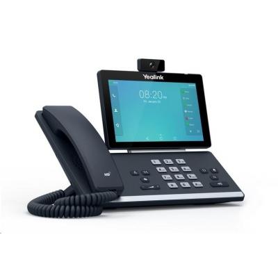 """Yealink SIP-T58A+cam IP telefon, 7"""" 1024x600LCD,2x10/100/1000,Wi-Fi,Bluetooth,HD kamera,PoE,16xSIP,2x USB, bez adaptéru"""