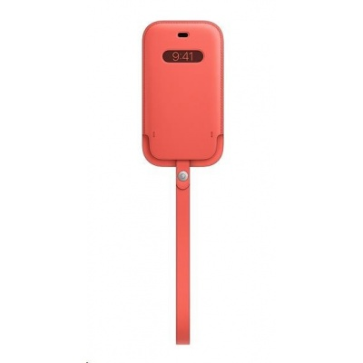APPLE iPhone 12 mini Leather Sleeve with MagSafe - Pink Citrus