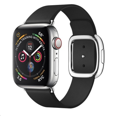 COTEetCI kožený magnetický řemínek Nobleman pro Apple Watch 38 / 40mm černá
