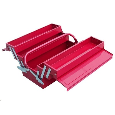 Extol Craft (81843) kufr na nářadí kovový, 400x200x195mm, 5 přihrádek