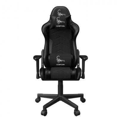 GEMBIRD Gaming chair / herní křeslo SCORPION 06, černá sítovina, červená niť