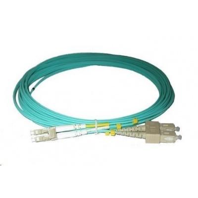 Duplexní patch kabel MM 50/125, OM3, LC-SC, LS0H, 15m