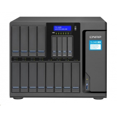 QNAP TS-1685-D1531-16G (6C/Xeon D-1531/2,2GHz/16GBRAM/16xSATA/4xGbE/2x10GbE/3xUSB3.0/6xM.2/3xPCIe)