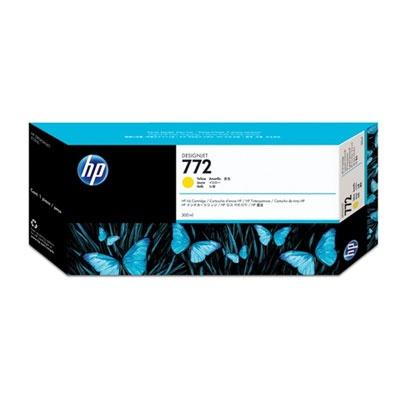 HP 772 Yellow DJ Ink Cart, 300 ml, CN630A