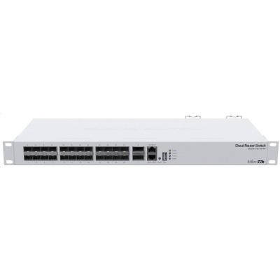 MikroTik Cloud Router Switch CRS326-24S+2Q+RM, 650MHz CPU, 64MB, 1x10/100, 24x10G, 2x40G, USB vč. L5