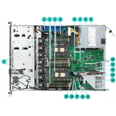HPE PL DL160g10 4214R (2.4G/12C/17M/2400) 1x16G S100i 8SFF 500W1/2 NBD333 1U