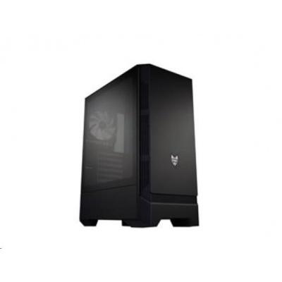 Fortron skříň Midi Tower CMT260 Black, průhledná bočnice