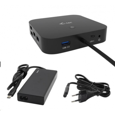 iTec USB-C HDMI DP Docking Station with Power Delivery 65W + Universal Charger 77 W