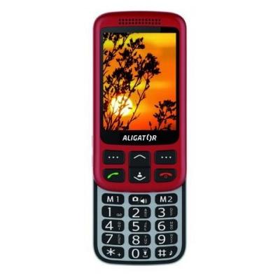 Aligator VS900 Senior, červená-stříbrná + nabíjecí stojánek