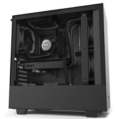 NZXT skříň H510i / ATX / průhledná bočnice / USB 3.0 / USB-C 3.1 / RGB LED / Smart case s intel. funkcemi / černá