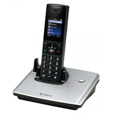 Polycom IP telefon VVX D60, SIP, bezdrátový DECT telefon se základnou, PoE