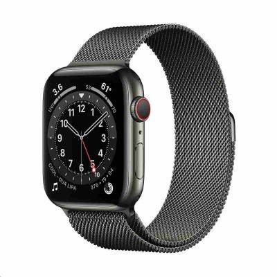 Apple Watch Series 6 GPS + Cellular, 44mm Graphite Stainless Steel Case + Graphite Milanese Loop