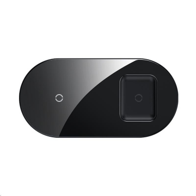 Baseus Simple 2v1 bezdrátová nabíječka 18W pro telefon a sluchátka černá
