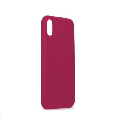 """Puro silikonový obal s mikrovláknem pro iPhone X / Xs 5.8"""", fialová"""
