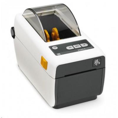 Zebra ZD410, 8 dots/mm (203 dpi), MS, RTC, EPLII, ZPLII, USB, BT (BLE), Ethernet, bílá