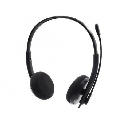 Sandberg náhlavní souprava Office SAVER s mikrofonem, 3,5 mm jack, stereo, černá
