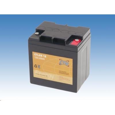 Baterie - CTM CTL 28-12 (12V/28Ah - M5), životnost 10-12let