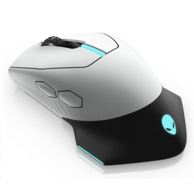 DELL Alienware 610M Wired / Wireless  Gaming Mouse - AW610M (Lunar Light)