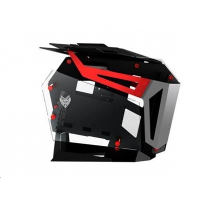 Fortron skříň T-Wings CMT710 Red, Dual System, průhledná bočnice